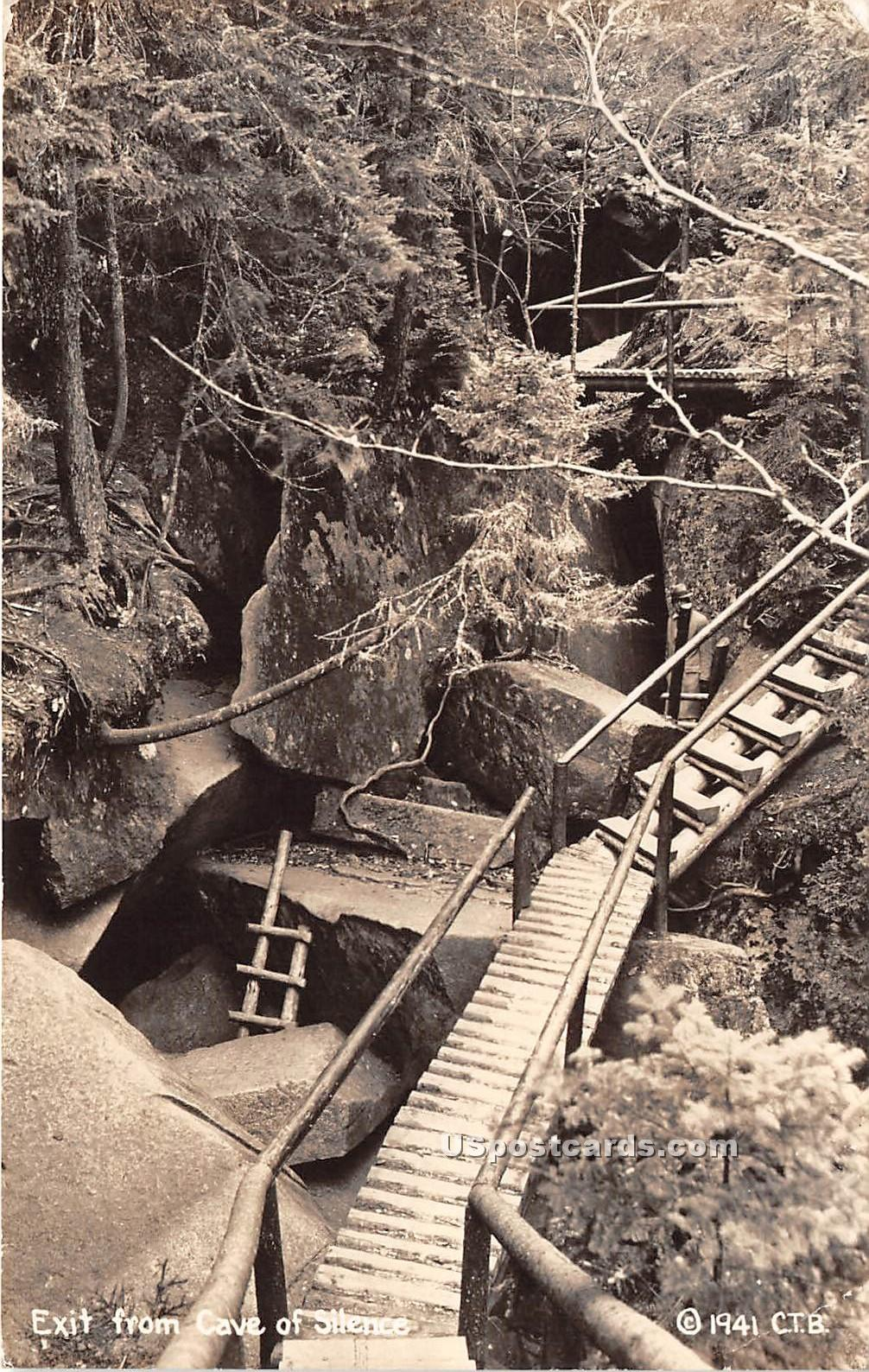 Exit From Cave of Silence - Lost River Gorge, Vermont VT Postcard