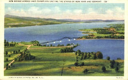 New Bridge - Burlington, Vermont VT Postcard