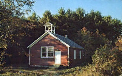 Little Red School House - Misc, Vermont VT Postcard