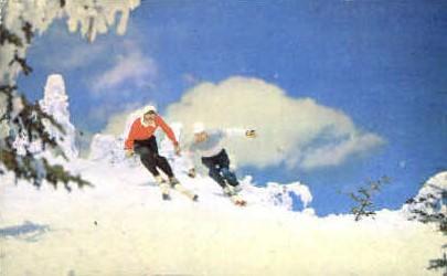 Skiing - Misc, Vermont VT Postcard