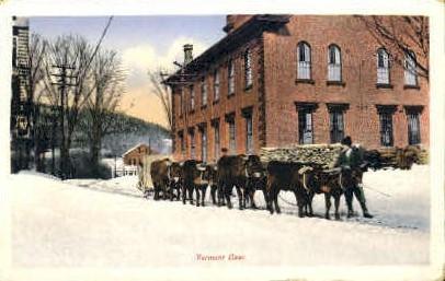 Vermont Oxen - Misc Postcard