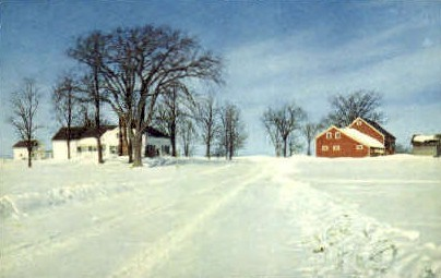 Winter - Misc, Vermont VT Postcard