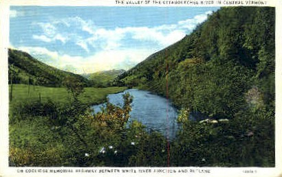 Ottauquechee River - Misc, Vermont VT Postcard