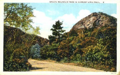 Gravel Mountain - Misc, Vermont VT Postcard
