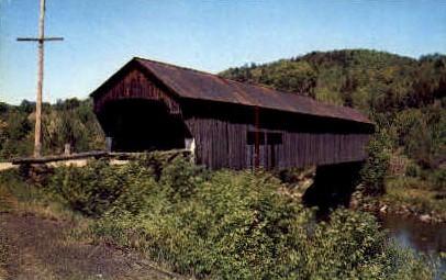 Covered Bridge - Chester, Vermont VT Postcard