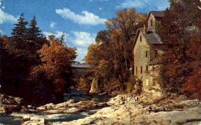 Old Mill and Covered Bridge - Misc, Vermont VT Postcard
