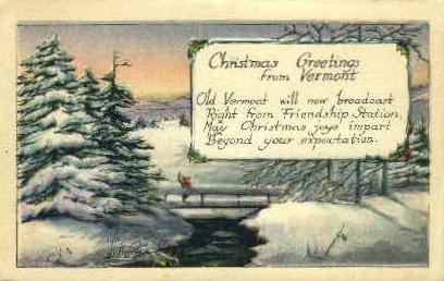 Christmas - Misc, Vermont VT Postcard