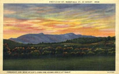 Profile - Mount Mansfield, Vermont VT Postcard
