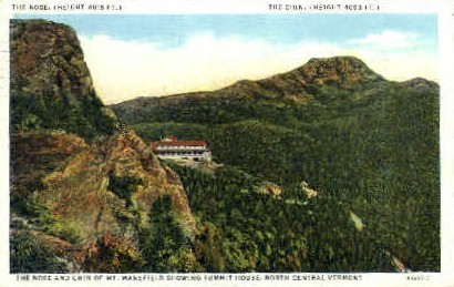 Nose and Chin - Mount Mansfield, Vermont VT Postcard