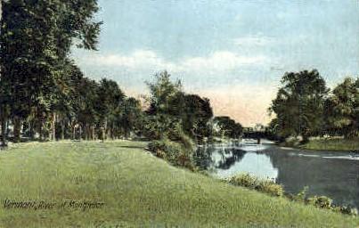 River - Montpelier, Vermont VT Postcard