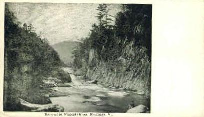 Winooski River - Middlesex, Vermont VT Postcard