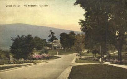 Cross Roads - Manchester, Vermont VT Postcard