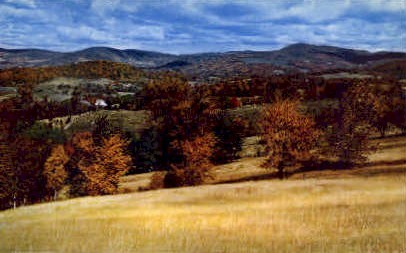 Pownal Valley - Vermont VT Postcard