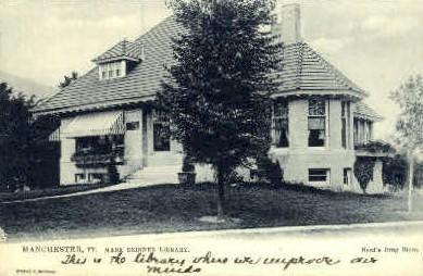 Mark Skinner Library - Manchester, Vermont VT Postcard