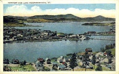 Newport - Lake Memphremagog, Vermont VT Postcard