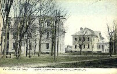 Peoples' Academy - Morrisville, Vermont VT Postcard