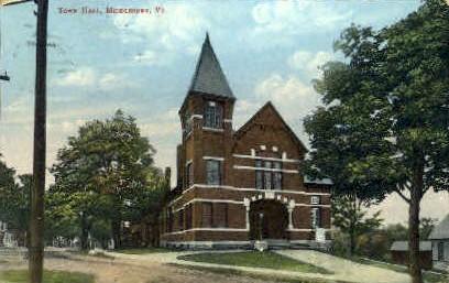 Town Hall - Middlebury, Vermont VT Postcard