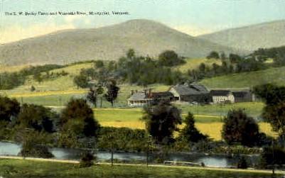 E. W. Bailey Farm - Montpelier, Vermont VT Postcard