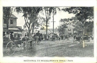 Middlebury's Great Fair - Vermont VT Postcard