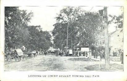 Court Street - Misc, Vermont VT Postcard