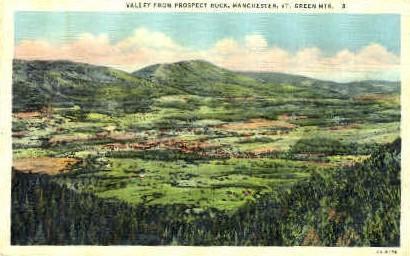 Prospect Rock - Manchester, Vermont VT Postcard