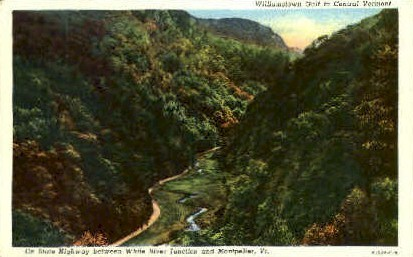White River Junction - Montpelier, Vermont VT Postcard