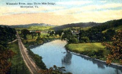 Winooski River - Montpelier, Vermont VT Postcard