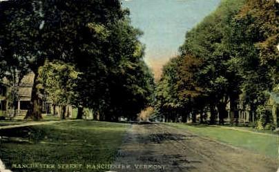 Manchester Street - Vermont VT Postcard