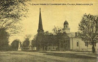 Court House - Manchester, Vermont VT Postcard