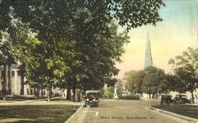 Main Street - Manchester, Vermont VT Postcard