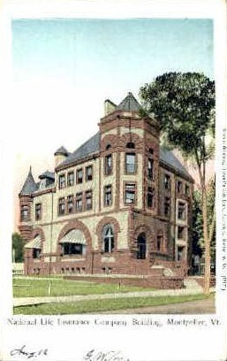 National Life Insurance - Montpelier, Vermont VT Postcard