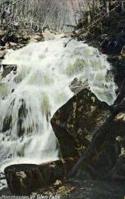 Glen Falls - Manchester, Vermont VT Postcard