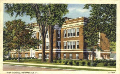 High School - Montpelier, Vermont VT Postcard