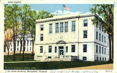 State Building - Montpelier, Vermont VT Postcard