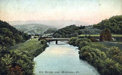 Old Bridge - Middlesex, Vermont VT Postcard