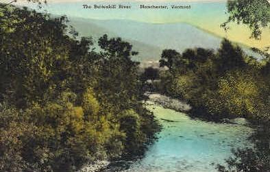 Bettenkill River - Manchester, Vermont VT Postcard