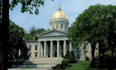 State Capitol - Middlebury, Vermont VT Postcard