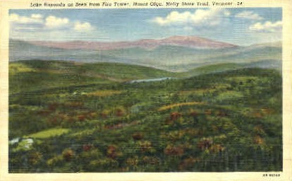 Lake Raponda - Molly Stark Trail, Vermont VT Postcard