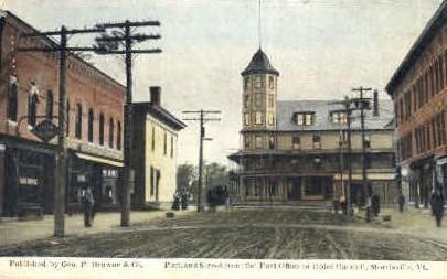 Portland Street - Morrisville, Vermont VT Postcard