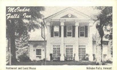 McIndoe Falls Inn - Vermont VT Postcard
