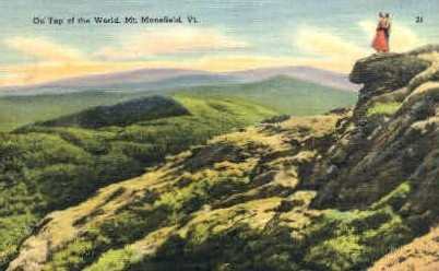 Top of the World - Mount Mansfield, Vermont VT Postcard