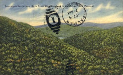 Smugglers Notch - Mount Mansfield, Vermont VT Postcard