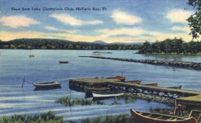 Lake Champlain Club - Malletts Bay, Vermont VT Postcard
