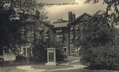 Hilltop - Middlebury, Vermont VT Postcard