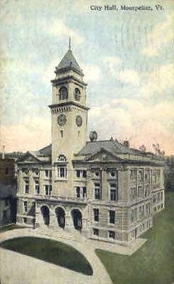 City Hall - Montpelier, Vermont VT Postcard