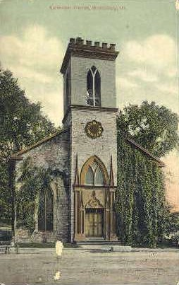 Episcopal church - Middlebury, Vermont VT Postcard