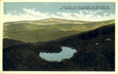 Lake of the Clouds - Mount Mansfield, Vermont VT Postcard