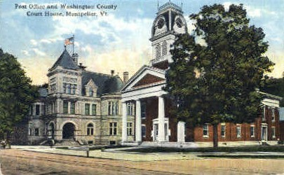 Post Office - Montpelier, Vermont VT Postcard