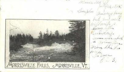 Morrisville Upper Falls - Vermont VT Postcard
