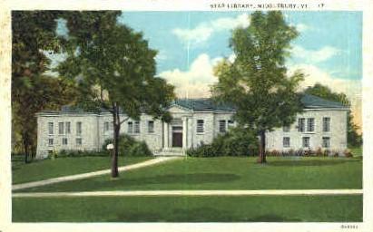 Star Library - Middlebury, Vermont VT Postcard